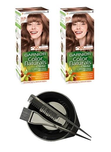 Garnier Garnier 2 Adet Color Naturals Saç Boyası 6.25 + Saç Boyama Seti Renksiz